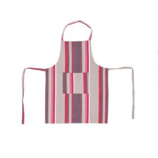 Tablier Rayures - Coton - Fuschia