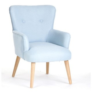 Fauteuil Mitt - Hévéa - Bleu
