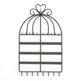 Porte-bijoux mural Cage - Noir