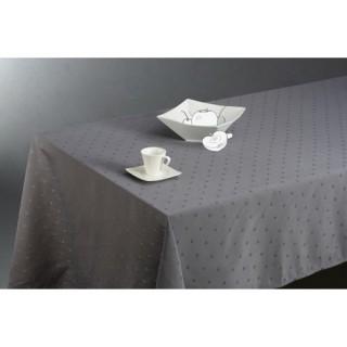 Nappe anti-tâches Carrés - 150 x 300 cm - Gris