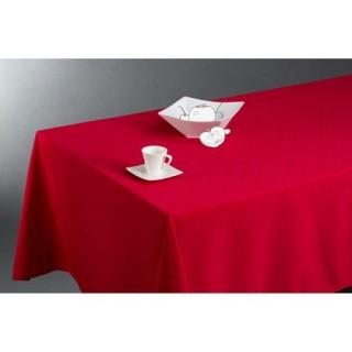 Nappe anti-tâches Carrés - 150 x 300 cm - Rouge