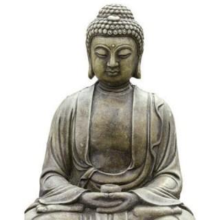 2 Stickers vitre Zen - 33 x 45 cm - Bouddha assis