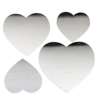 Stickers Miroir - 15 x 15 cm - Coeur