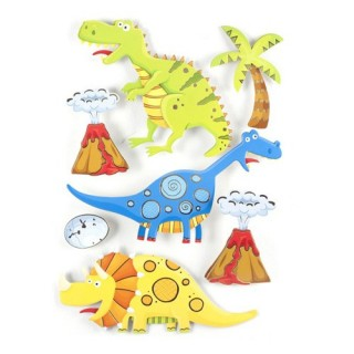 Sticker 3D Rêve - 30 x 40 cm - Dinosaure