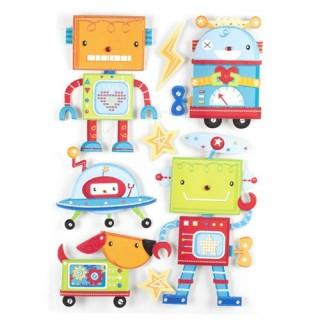Sticker 3D Rêve - 30 x 40 cm - Robot