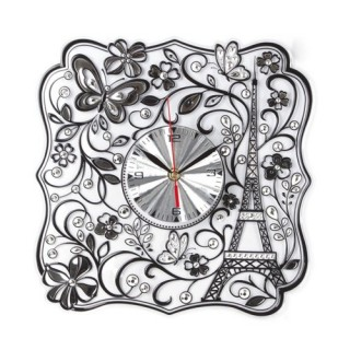 Sticker Pendule en relief - Arabesque