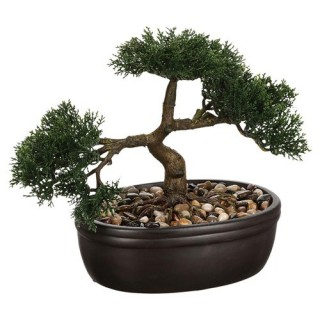 Bonsai artificiel en pot - H. 23 cm