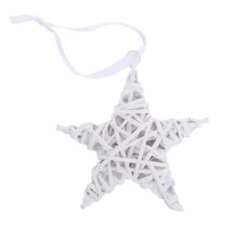 Etoile decorarive en Osier - 15 cm - Blanc