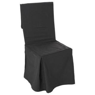 Housse de chaise - H. 85 cm - Gris foncé