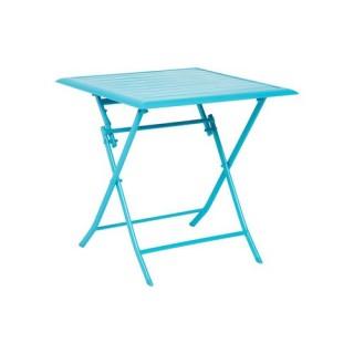 Table pliante Azua - 2 Places - Bleu lagon