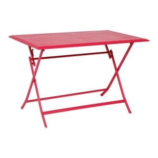 Table pliante Azua - 4 Places - Cerise