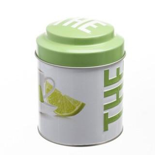 Boîte à thé Ronde Relief - Métal