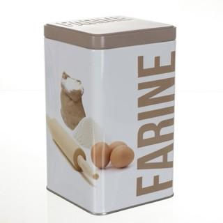 Boîte à farine Relief - Métal
