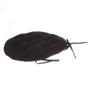 Galette de chaise Ronde - Diam. 40 cm. - Noir