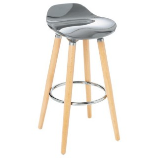 Tabouret de bar Filel - Abs - Gris