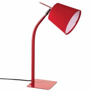 Lampe métal couleur - H. 40 cm. - Rouge