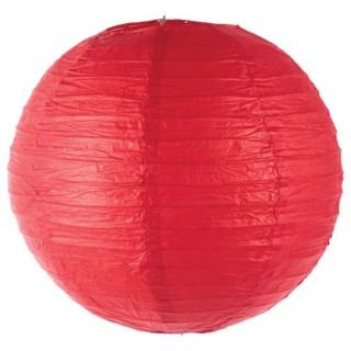 Lanterne boule coloris vif - Diam. 35 cm. - Rouge