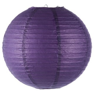 Lanterne boule coloris vif - Diam. 35 cm. - Violet