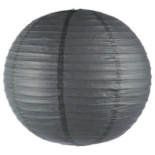 Lanterne boule coloris uni - Diam. 45 cm. - Gris