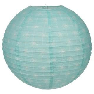 Lanterne boule Sweet imprimé - Diam. 45 cm. - Vert