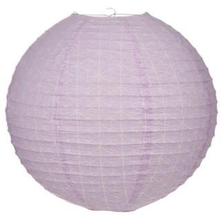 Lanterne Boule Sweet imprimé - Diam. 45 cm. - Violet clair