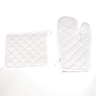Gant et manique - Coton - Ivoire