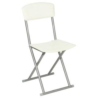 Chaise pliante - PVC - Crème