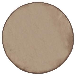 Tapis rond Velours - Diam. 90 cm. - Taupe