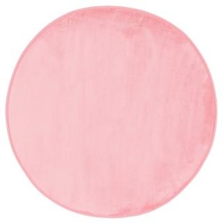 Tapis rond Velours - Diam. 90 cm. - Rose clair