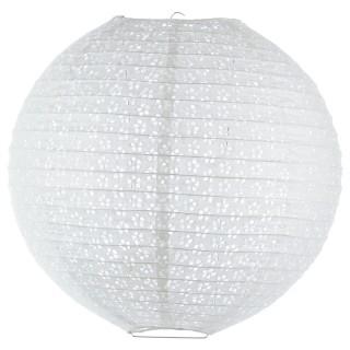 Lanterne Boule ajourée - Diam. 45 cm. - Blanc