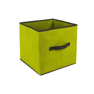 Boîte de rangement pour meuble - 31 x 31 cm. - Vert
