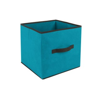 Boîte de rangement pour meuble - 31 x 31 cm. - Turquoise