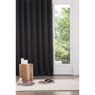 2 Rideaux Occultant - 240 x 135 cm. - Noir