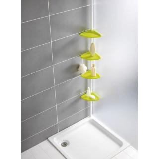 Etagère d'angle télescoptique de douche Easy - Jaune vert