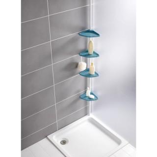 Etagère d'angle télescoptique de douche Easy - Bleu
