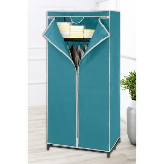 Armoire penderie avec étagère Breeze - Housse en tissu - 75 x H. 160 cm