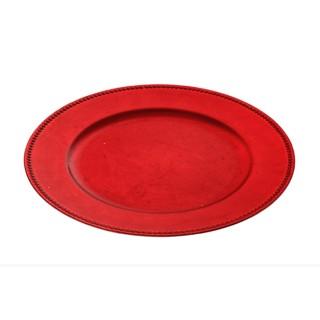 Assiette de présentation ronde - Rouge