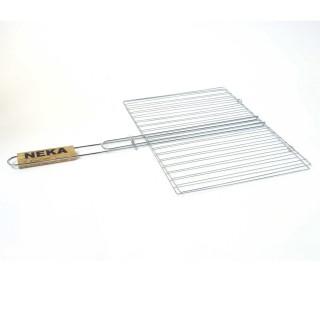Grille barbecue double - 30 x 40 cm - Métal