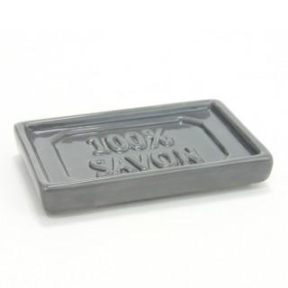 Porte savon 100% savon - Céramique - Gris