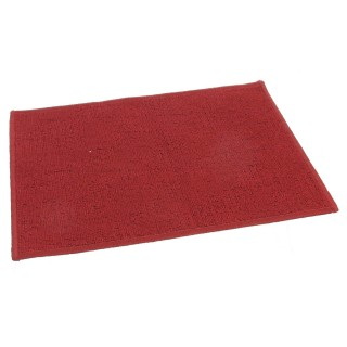Tapis uni - 40 x 60 cm. - Rouge