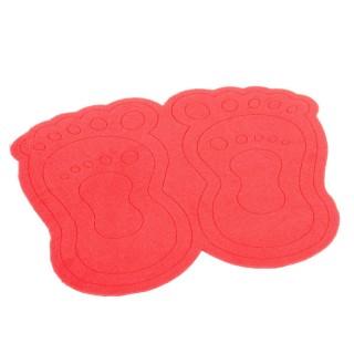 Paillasson Pieds - 40 x 60 cm. - Rouge