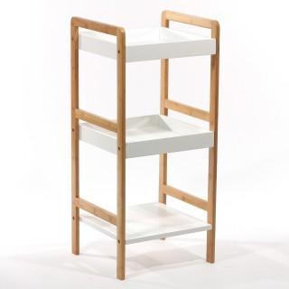 Etagère de salle de bain 3 niveaux - Bambou et MDF