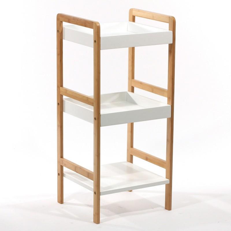 etag re de salle de bain 3 niveaux bambou et mdf decoandgo. Black Bedroom Furniture Sets. Home Design Ideas