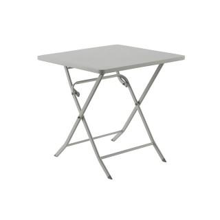 Table pliante carrée Greensboro - 2 Places - Gris galet