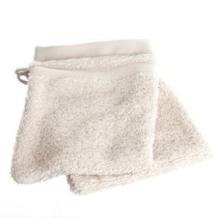 2 Gants de Toilette - Couleur lin