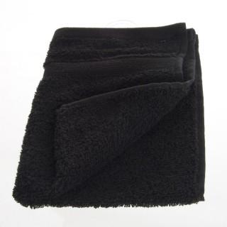 Serviette de toilette - 50 x 30 cm. - Noir
