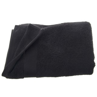 Serviette de toilette - 130 x 70 cm. - Noir