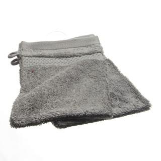 2 gants de toilette- Coton peigné - Taupe