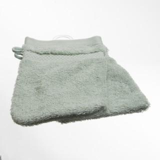 2 gants de toilette- Coton peigné - Amande