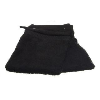 2 gants de toilette- Coton peigné - Noir